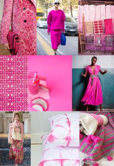Pattern Curator – PRINT + PATTERN INSPIRATION: an insightful forecast of mood boards & color stories Pink Yarrow or hot pink/fushcia trend for spring 2017 Fashion Colours, Colorful Fashion, Pattern Curator, Pantone, Color Trends 2018, 2018 Color, Winter Typ, Fashion Forecasting, Pink Patterns