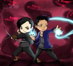 Side by Side, chibi Malec! (Alec, Magnus, Mortal Instruments, Shadowhunters)