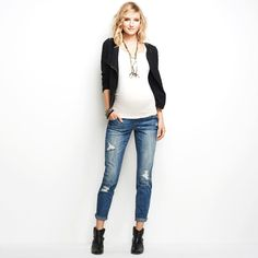 Wendy Bellissimo No Belly Skinny Leg Maternity Jeans