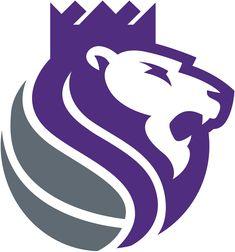 Sacramento Kings Alternate Logo (2017) - A purple and silver lion wearing a crown, roaring