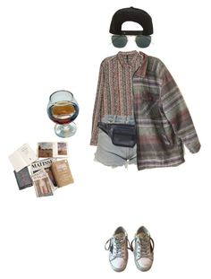 """""""i may be younger"""" by stremilie ❤ liked on Polyvore featuring MANGO, Levi's, Scully, Golden Goose, Linda Farrow and Roark"""