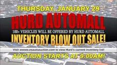 Due to weather conditions this sale has been postponed until Thursday, February 5 at 9:00AM