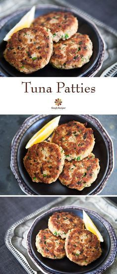 Tuna Patties ~ Quick, easy, and budget-friendly tuna patties, made with canned tuna, mustard, lemon, parsley, chives, bread, and hot sauce. ~ http://SimplyRecipes.com