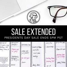 50% OFF ALL UNDATED Passion Planners in honor of Presidents Day!   Hurry! Sale ends TODAY at 5PM PST!  Tag your friends and family so they don't miss out on this deal! ✨