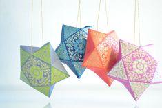 Hanging Star Box Holiday Ornaments Star Gift Box Ramadan