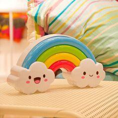 Rainbow Island LED Night Light Voice Touch Sensor Wall Sticker Bed Beside Lamp Emergency Light for Children