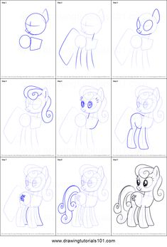 How to Draw Sweetie Drops from My Little Pony - Friendship Is Magic step by step printable drawing sheet to print. Learn How to Draw Sweetie Drops from My Little Pony - Friendship Is Magic Drawing Sheet, Drawing Tips, Drawing Ideas, My Little Pony Coloring, My Little Pony Drawing, Disney Drawing Tutorial, What To Draw, Cartoon Tv, My Little Pony Friendship