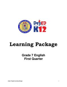 Grade 7 English Group, DepEd Learning Area Team for Languages and Multiliteracies GuideGrade 7 EnglishFirst Quarter English Lesson Plans, English Lessons, Learn English, English Reference, The Sky Is Falling, English Exam, Paragraph Writing, English Activities, Teaching