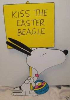 snoopy kiss the easter beagle easter yard art by PlayfulYardArt, $79.98
