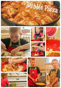 Cooking with Kids: Bubble Pizza! So easy and delicious that the kids make it and eat it all!