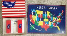 Vintage U.S.A. Trivia a Fun & Patriotic Board Game 1985 Boynton  #Boynton