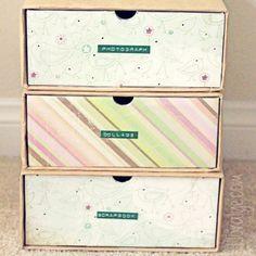 DIY Shoebox Crafts Shoebox Organizer Drawers