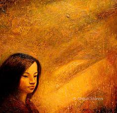 """Golden Light"" oil on canvas 30x30  2008 © Shijun Munns   #Art #OilPaintings #painting #artwork #originalart #artist #homedecor #wallart #gallery #exhibit #create #collection #womenart Original Paintings, Original Art, Oil Painters, Spring Art, Light Of Life, Light Painting, Painting Inspiration, Oil On Canvas, Exhibit"