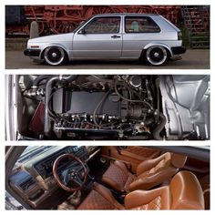 MK II with a nice, classy interior and an aggressive VR6 conversion in the front.