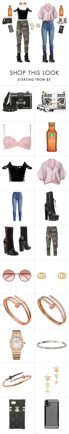 pumpkin spice 🍂 by teenydreamy on Polyvore featuring Vionnet, Preen, RE/DONE, Agent Provocateur, Casadei, Gucci, Prada, Audemars Piguet, Cartier and Bee Goddess