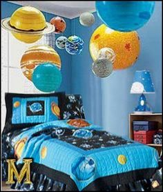 outerspace-space galaxy bedroom inflatable planets