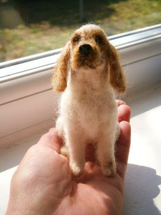 Needle felted cocker spaniel by adore62, via Flickr