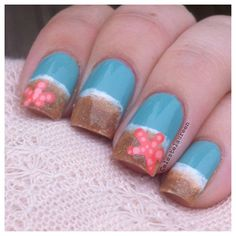 beach by  celestelaureen #nail #nails #nailart