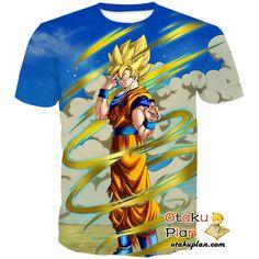 DBZ The Last Instant Transmission Super Saiyan Goku T-Shirt - Dragon Ball Z 3D Shirts And Clothing