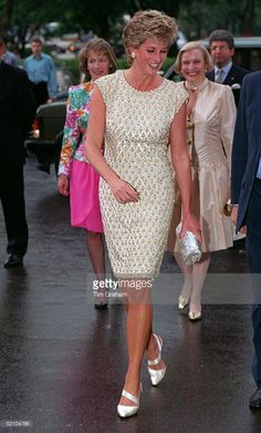 Princess Diana Arriving At The Bolshoi Ballet In Moscow During Her Visit To Russia.