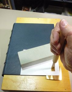 About the Binding: Gold tooling with jigs