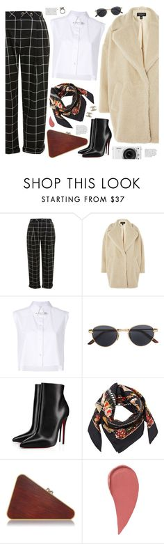 """""""#PolyPresents: Wish List"""" by valentino-lover on Polyvore featuring Topshop, Helmut Lang, Gucci, Christian Louboutin, Salvatore Ferragamo, Nikon, Chanel and Iosselliani"""