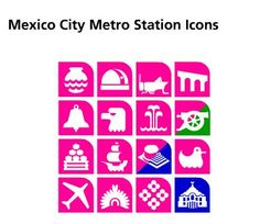 mexico city metro station icons