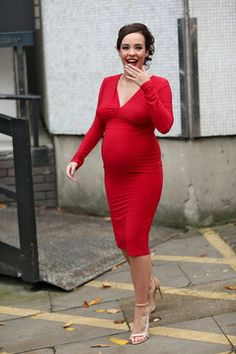 Actress Stephanie Davis spotted leaving the ITV studios after filming 'Loose Women' in London Stephanie Davis, Celebrity News, Studios, Wrap Dress, Actresses, London, Celebrities, Women, Fashion