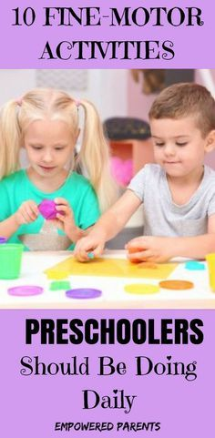 These are 10 of the most basic activities that kids should be doing every day. They are easy to do at home and will develop your child's fine-motor skills - important for learning to write. #learntowrite #finemotorskills #empoweredparents