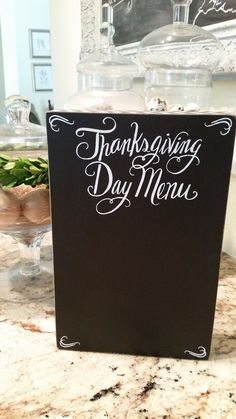 Thanksgiving Day Chalkboard Menu
