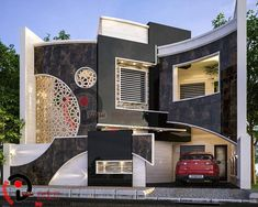 The first step to being taken before giving early in its construction is to research enough to have new ideas on how to be your home if you are looking Modern Fence Design, Best Modern House Design, Duplex House Design, Design Your Dream House, Cool House Designs, Morden House, Earthship Home, House Outside Design, Round House