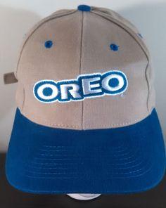 Vintage Embroidered OREO Baseball Hat NISSIN Cap Clamp Back Blue Tan Soft  Nascar  Oreo Nascar 44d2015ec079