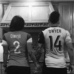 Sydney Leroux and her new husband Dom Dwyer. (Instagram)…