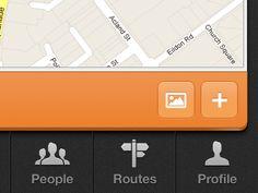 Dribbble - Map App by Zane David Iphone App Design, App Ui Design, User Interface Design, Iphone Ui, Tech Branding, News Web Design, Ui Patterns, App Design Inspiration, Mobile Design