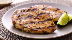 Grilled Lime Chicken - A lime and chile marinade is the secret to this juicy and flavorful chicken. Chile Lime Chicken, Lime Chicken Recipes, Grilling Recipes, Cooking Recipes, Healthy Recipes, Cooking Videos, Clean Recipes, Yummy Recipes, Free Recipes