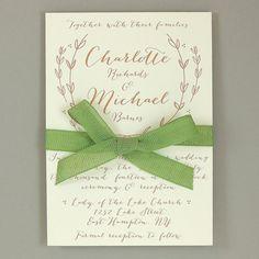 Charlotte Suite - Elegant Calligraphy Wedding Invitation - Timeless Invite - Customizable Wedding Invitation - Sample