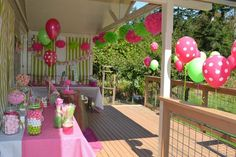 """Photo 19 of 22: Hot pink and Lime Lady bug / Birthday """"Oh So Sweet 1st Birthday Party"""" 