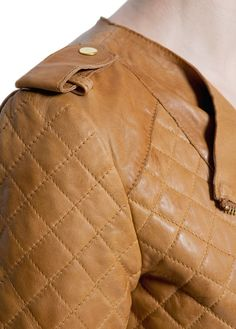 MANGO - Quilted leather jacket