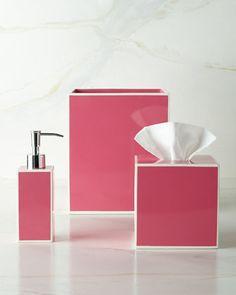 """Soho"" Vanity Accessories by Kassatex at Neiman Marcus #PowderRoom #Inspiration"