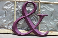 Ampersand/ Purple Ampersand/ Plum Purple Ampersand/  Wedding Sign/ AND Symbol Sign/ WallLetters A-W. Custom Painted Family Initials/ Wedding. $20.00, via Etsy.