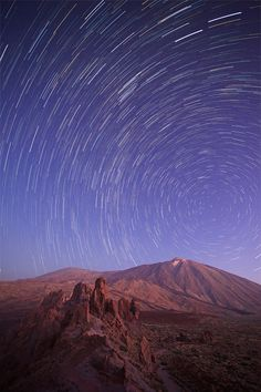 "500px / Photo ""[ ... teide startrails ]"" by D-P Photography... ॐ}*{ॐ"