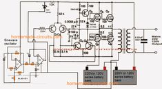 Homemade Circuit Projects: Make This watts) Pure Sine Wave Inverter Circuit Electronic Circuit Projects, Electronic Engineering, Electrical Engineering, Electronics Projects, Dc Circuit, Circuit Design, Circuit Diagram, Power Supply Circuit, Electronic Schematics
