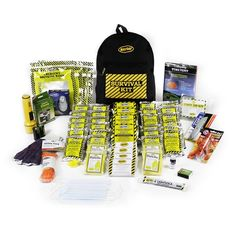 Popular Deluxe 4-person Emergency Backpack Kit includes all the essential survival supplies to keep your family safe in a disaster. Fully assembled in USA.