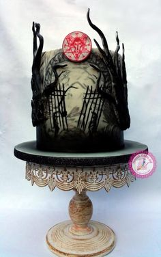 Enter at Your Own Risk - Penny Dreadful Cake Collaboration by Becca's Edible Art