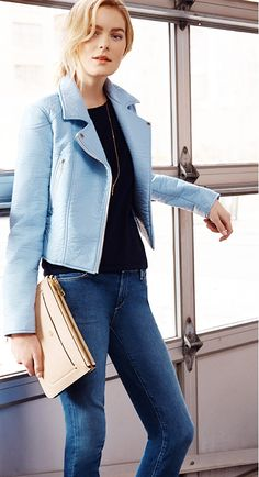 #AT3WAYS: The Moto Jacket, keep it relaxed with a tee and denim.