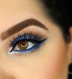 Beautiful Blue Eyeshadow Looks! Makeup Blog, Makeup Tips, Eye Makeup, Hair Makeup, Casual Makeup, High End Makeup, Drugstore Makeup, Beauty Make Up, Makeup Trends