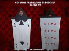 Costume di coppia per carnevale:carta due di picche fai da te