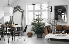 Amazing minimal Christmas home (Daily Dream Decor) Scandinavian Christmas, Scandinavian Interior, Scandinavian Design, Minimal Christmas, Norwegian Christmas, Scandinavian Apartment, Modern Christmas, Christmas Fashion, Christmas Home