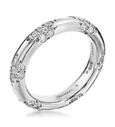 Michael B. - Lace Collection Platinum Crown Lace Wedding Band