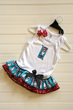 the Dr Seuss dress I bought my daughter for her brothers bday party!